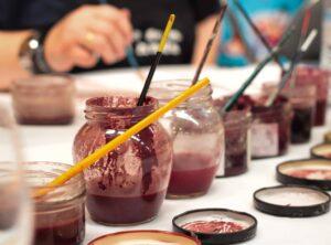 8 materiales basicos de sedimentos de diferentes vinos