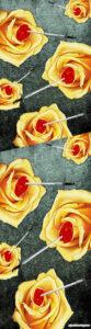 Rosas heridas. 1,80 x 50 cm. Vinilo sobre tela. Elisa Cozzani.